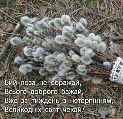 Оригінальні привітання з Вербною неділею у прозі, українською мовою